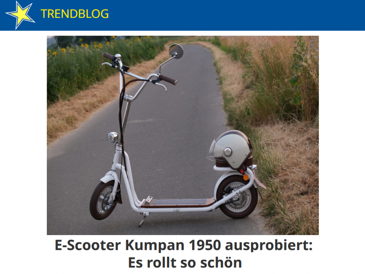 E-Scooter 1950 von Kumpan electric im Test