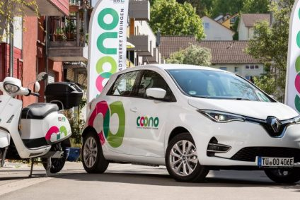 Coono Sharing in Tübingen: E-Roller von Kumpan electric