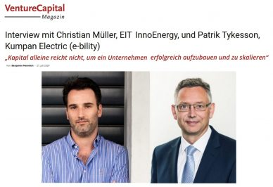 VentureCapital Titel Interview Patrik Tykesson und Christian Müller EIT InnoEnergy
