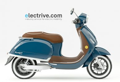 electrive.co header blue e-scooter