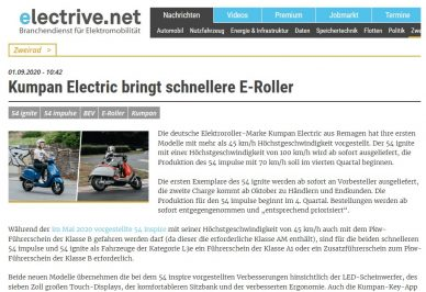 Header electrive Bericht zum Launch des 54 impulse und 54 ignite